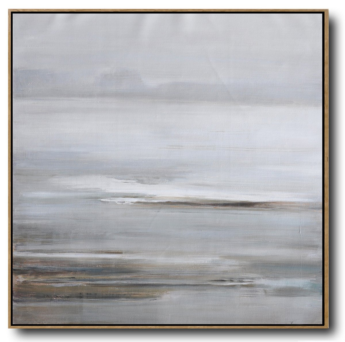 Abstract Painting Extra Large Canvas Art,Large Abstract Landscape Oil Painting On Canvas,Custom Canvas Wall Art,White,Grey,Brown.etc